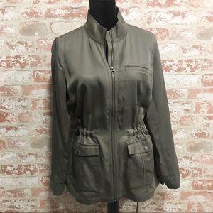 J. Jill Olive Green Utility Jacket